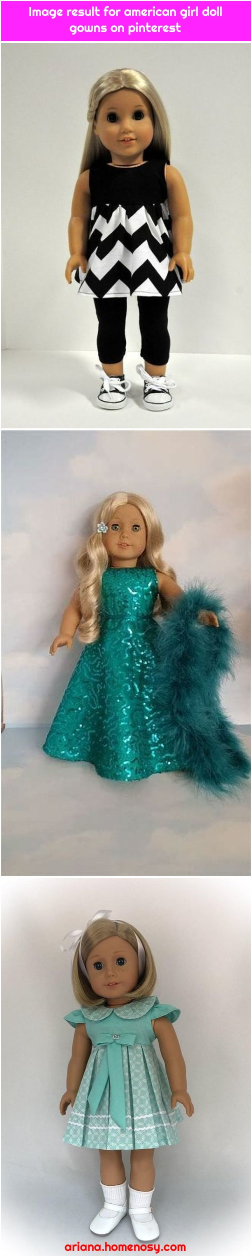 Image result for american girl doll gowns on pinterest