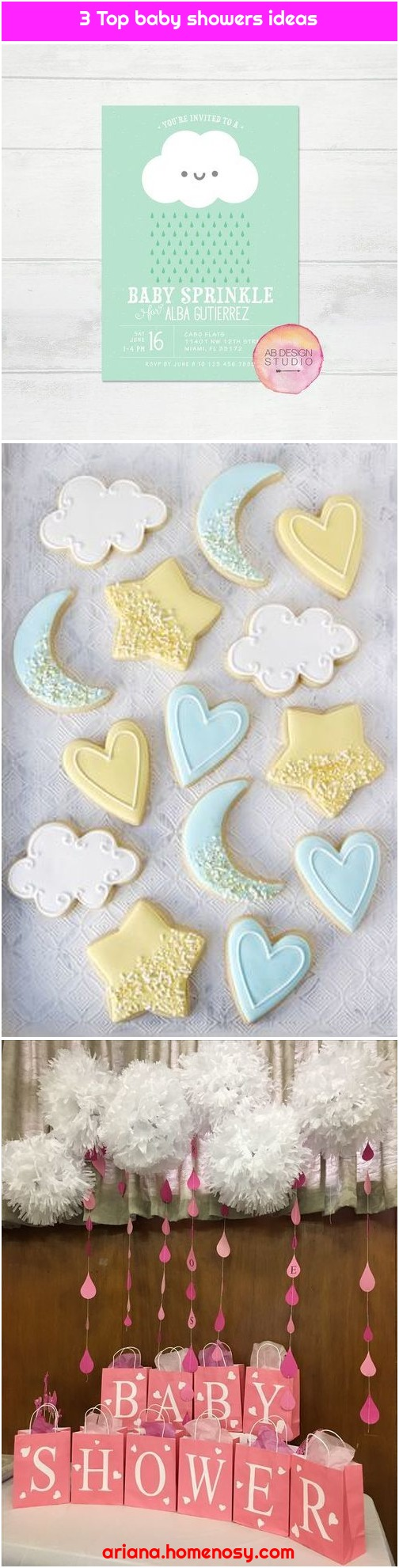 3 Top baby showers ideas