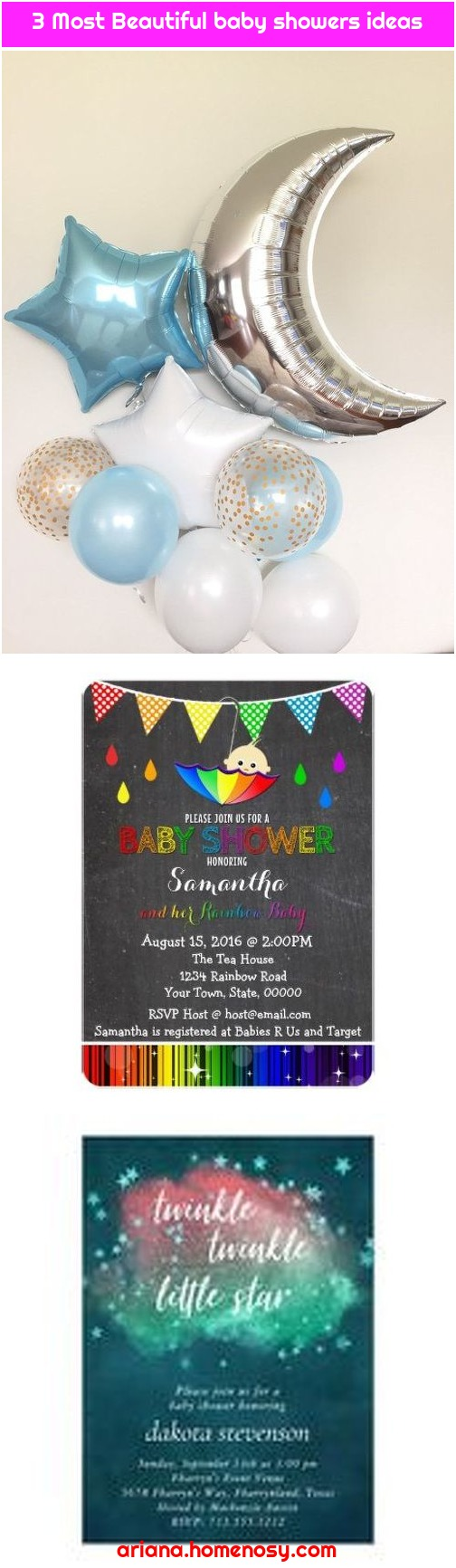 3 Most Beautiful baby showers ideas