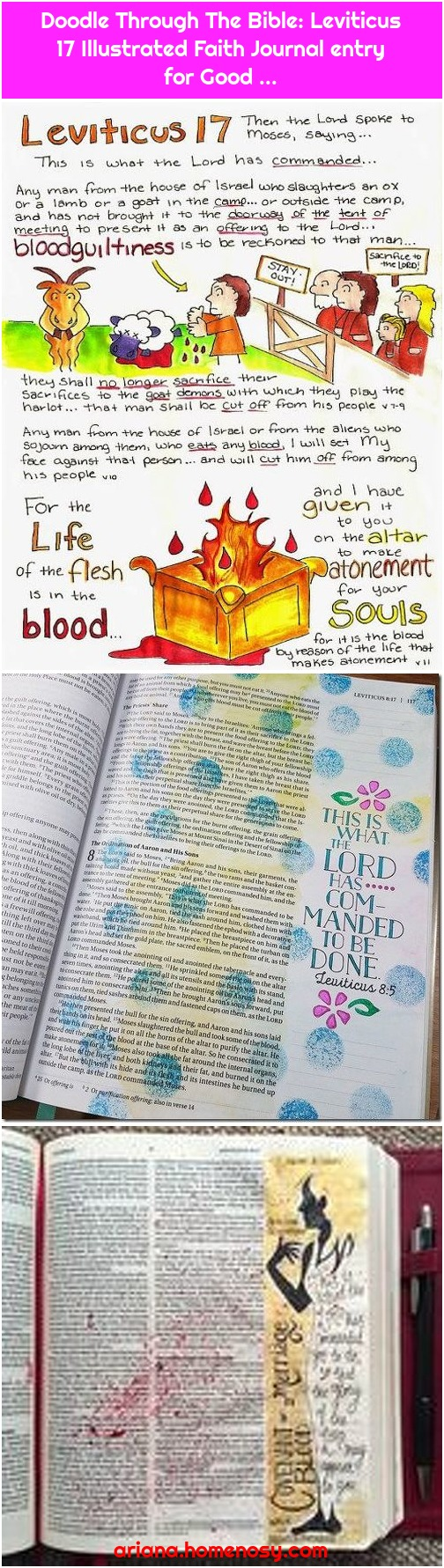 Doodle Through The Bible: Leviticus 17 Illustrated Faith Journal entry for Good ...