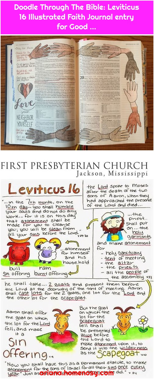 Doodle Through The Bible: Leviticus 16 Illustrated Faith Journal entry for Good ...