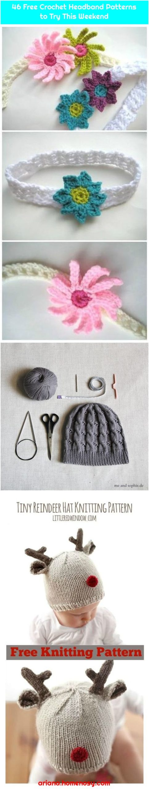 46 Free Crochet Headband Patterns to Try This Weekend