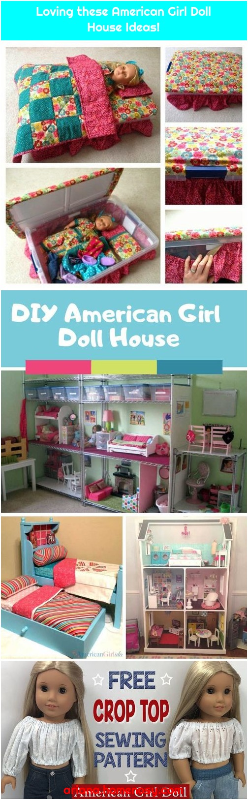 Loving these American Girl Doll House Ideas!