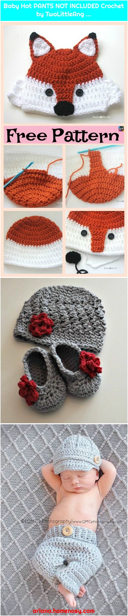 Baby Hat PANTS NOT INCLUDED Crochet by TwoLittleAng ...