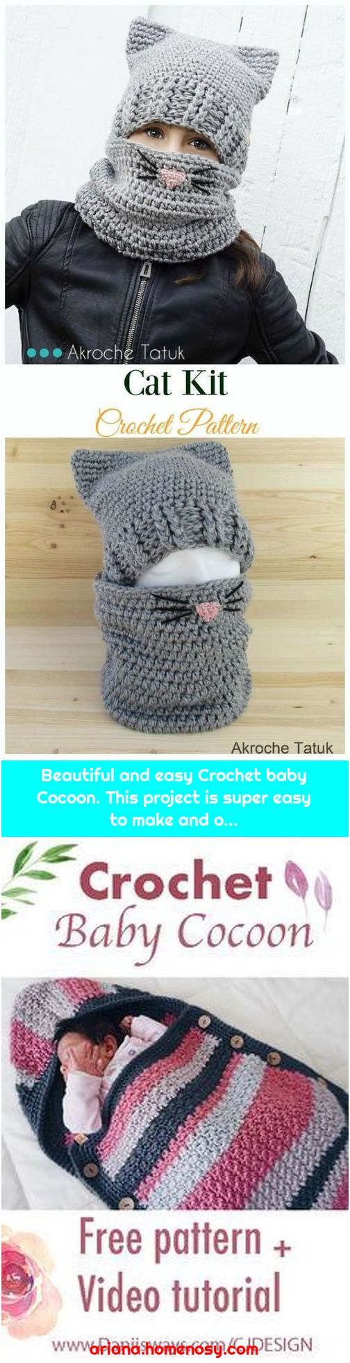 Beautiful and easy Crochet baby Cocoon. This project is super easy to make and o...