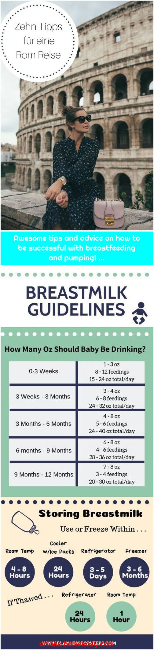 Awesome tips and advice on how to be successful with breastfeeding and pumping! ...