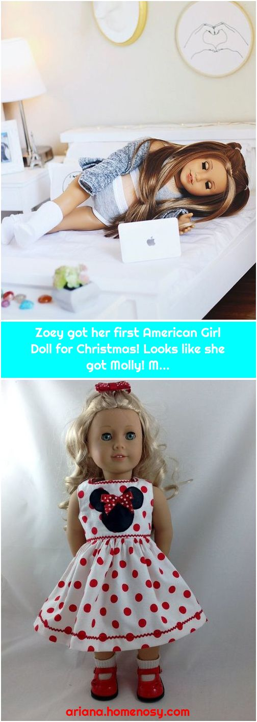 Zoey got her first American Girl Doll for Christmas! Looks like she got Molly! M...