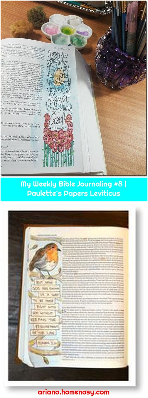 My Weekly Bible Journaling #8   Paulette's Papers Leviticus