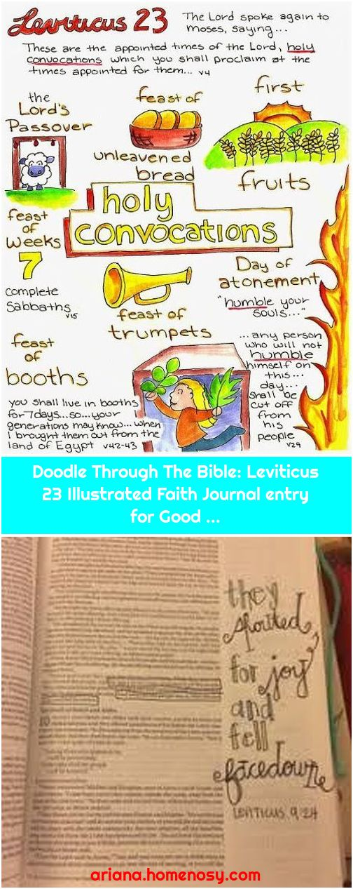 Doodle Through The Bible: Leviticus 23 Illustrated Faith Journal entry for Good ...