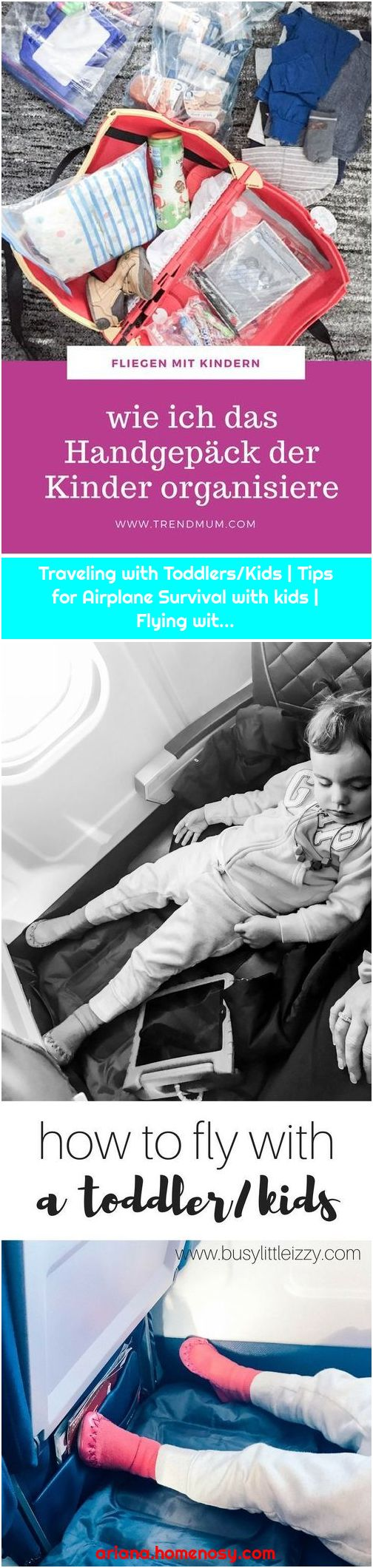 Traveling with Toddlers/Kids | Tips for Airplane Survival with kids | Flying wit...