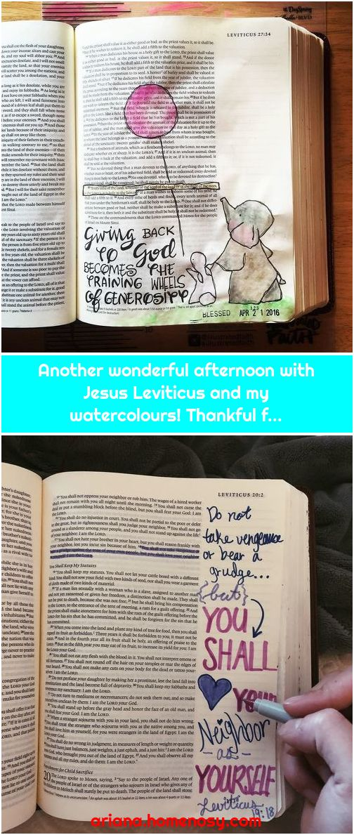 Another wonderful afternoon with Jesus Leviticus and my watercolours! Thankful f...