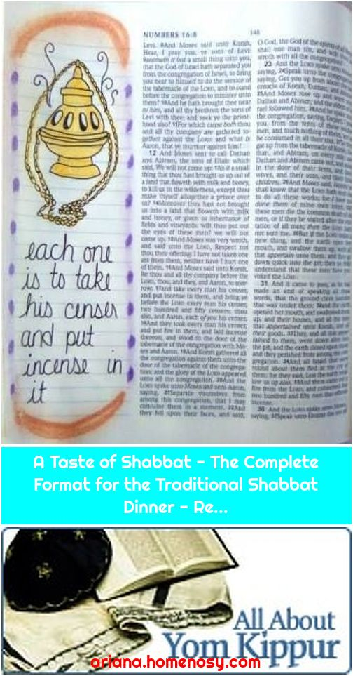 A Taste of Shabbat - The Complete Format for the Traditional Shabbat Dinner - Re...