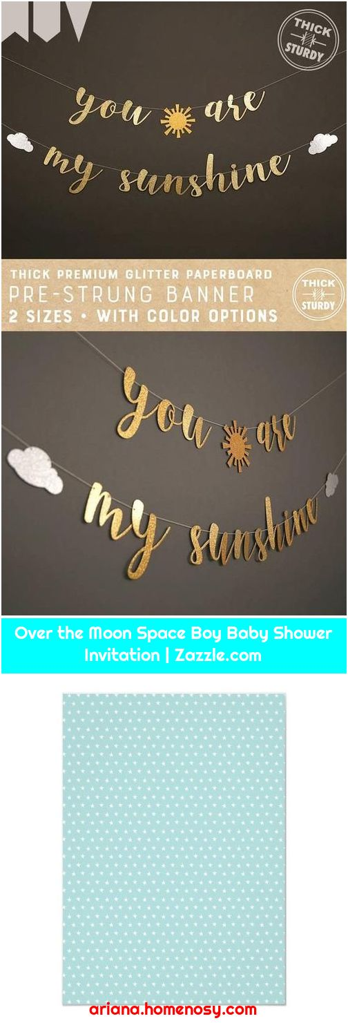 Over the Moon Space Boy Baby Shower Invitation   Zazzle.com