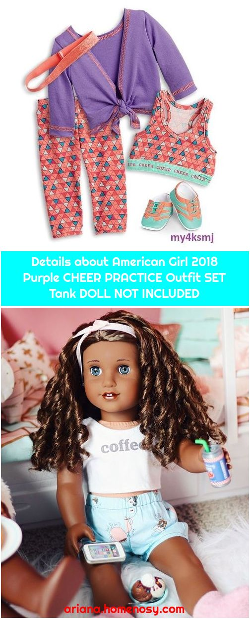 Details about American Girl 2018 Purple CHEER PRACTICE Outfit SET Tank DOLL NOT INCLUDED