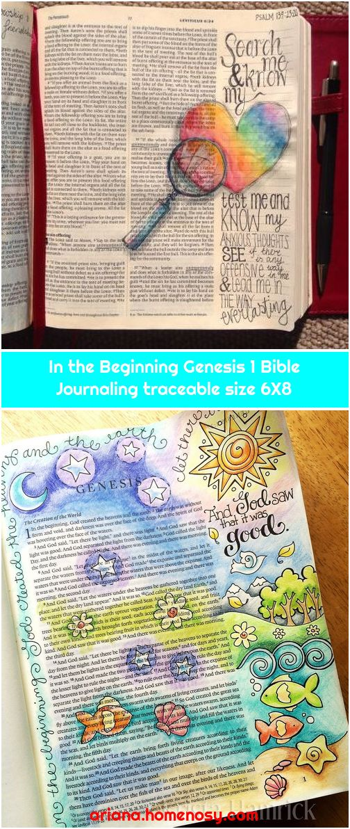 In the Beginning Genesis 1 Bible Journaling traceable size 6X8