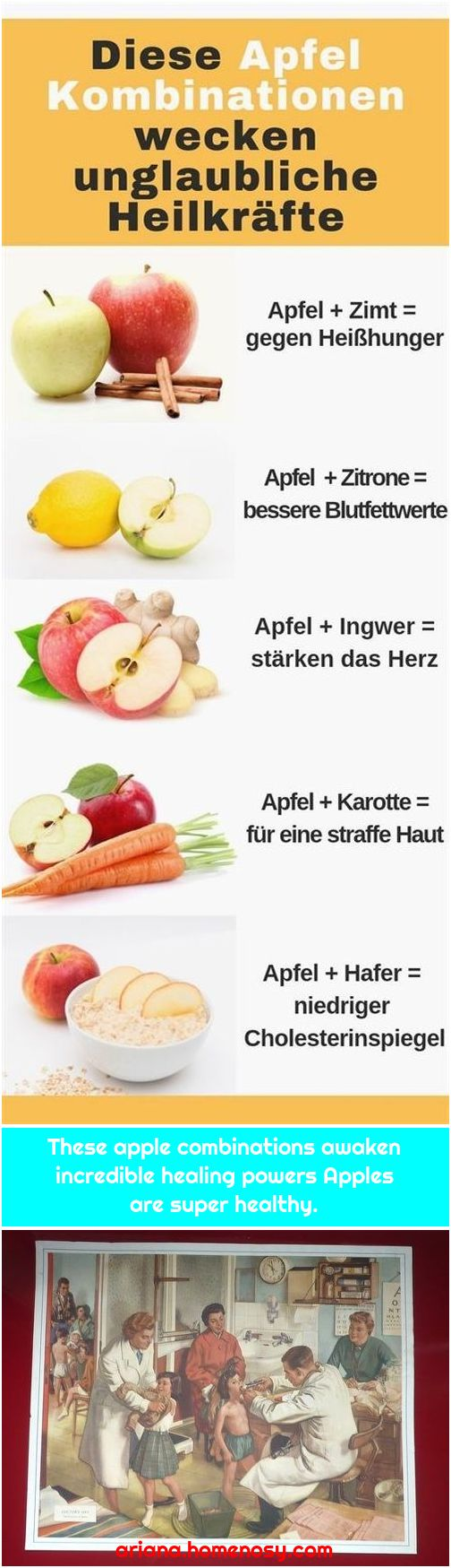 These apple combinations awaken incredible healing powers Apples are super healthy.