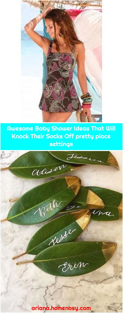 Awesome Baby Shower Ideas That Will Knock Their Socks Off pretty place settings