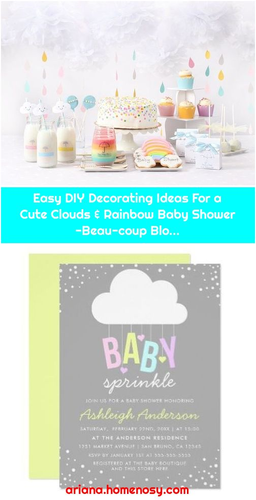Easy DIY Decorating Ideas For a Cute Clouds & Rainbow Baby Shower -Beau-coup Blo...