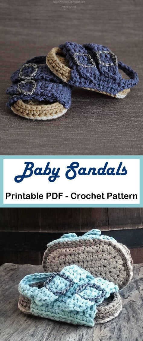 Adorable Summer Baby Shoes Crochet Patterns - A Crafty Life