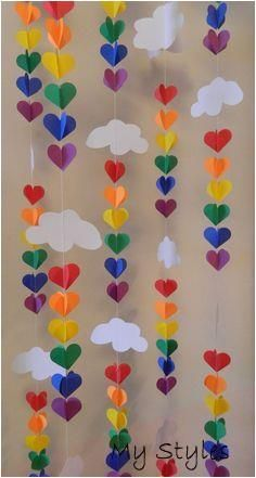 Baby SPRINKLE Decor/ SPRINKLE Party / 3D Clouds and Raindrop Rainbow Garland / B...