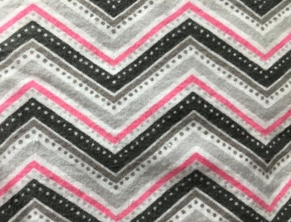 Hooded Baby Bath Towel Set with Pink and Gray Chevron Print, Baby Towel, Best Seller!