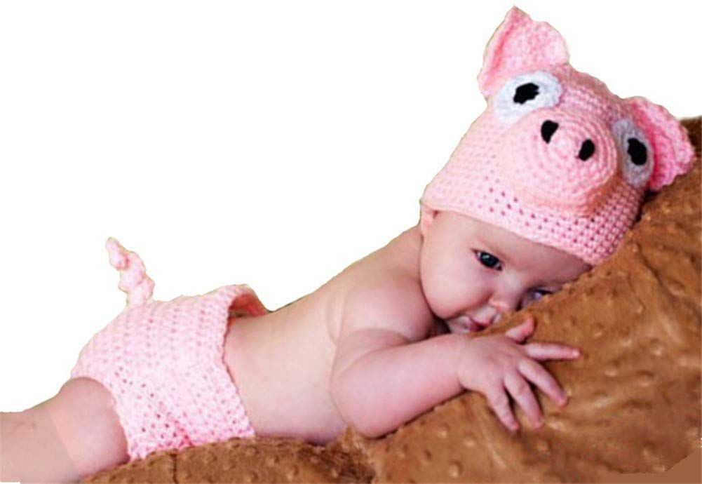 2019 Newborn Baby Photography Props Crochet Costume Hat and Pants Outfits Toddle...
