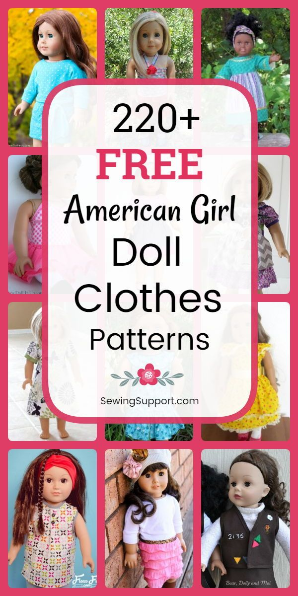 220+ Free Doll Clothes Patterns - 18 inch American Girl
