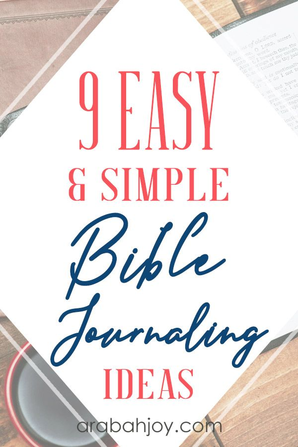 9 Easy and Simple Bible Journaling Ideas - Arabah