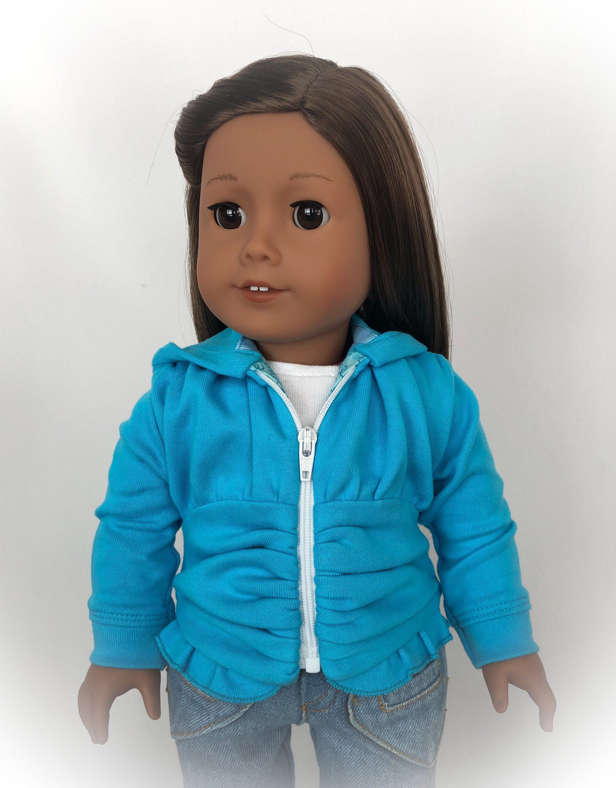 """American Girl Doll Clothes, 18"""" Doll Clothes, Hoodie, Jacket, 18"""" Doll Accessory, Hooded Sweatshirt Jacket - by BringingJoyBoutique"""