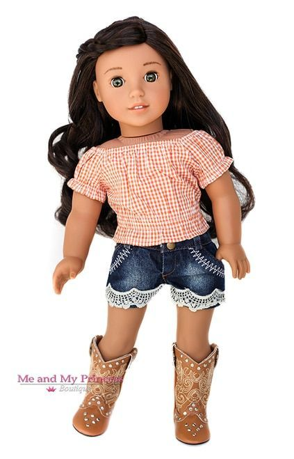 American Girl Doll Clothes / 18 inch Outfits #americangirlhouse Plaid Cropped To...