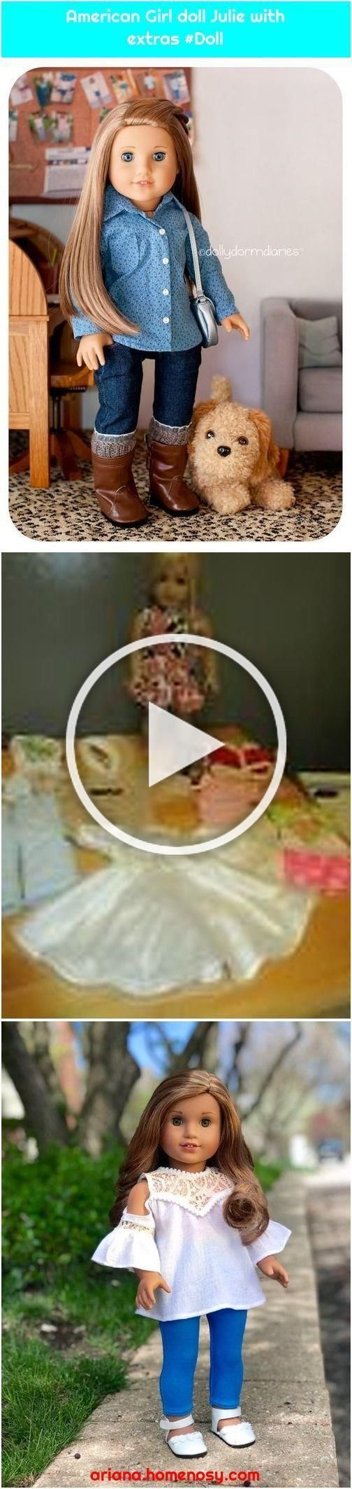 American Girl doll Julie with extras #Doll #americangirlhouse #American #america...