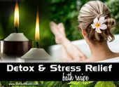 An effective DYI stress relief and detox bath recipe that can help with stress #... ,  #Bath ...