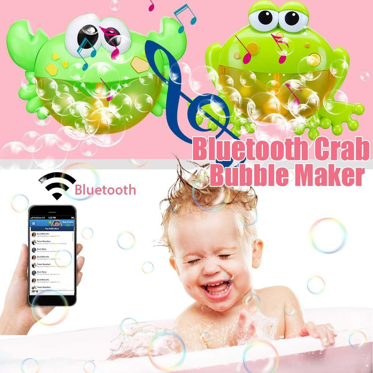 Baby Bath Toy Bubble Frogs Crab Machine Automatic Bubble Maker Blower Music Toys...