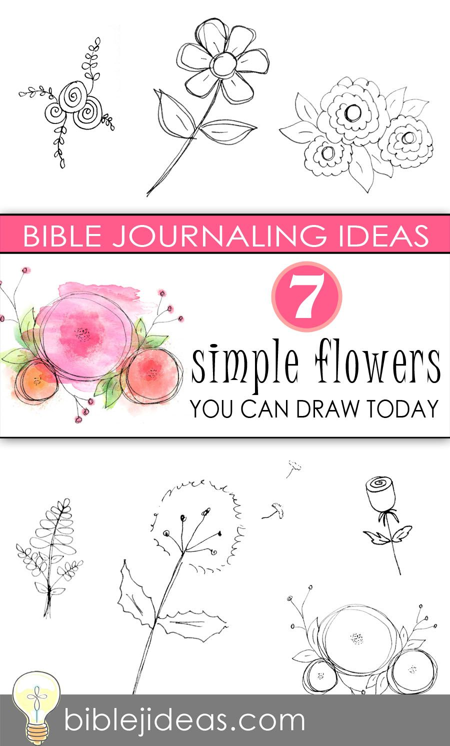 Bible Journaling Ideas: 7 Simple Flowers You Can Draw Today