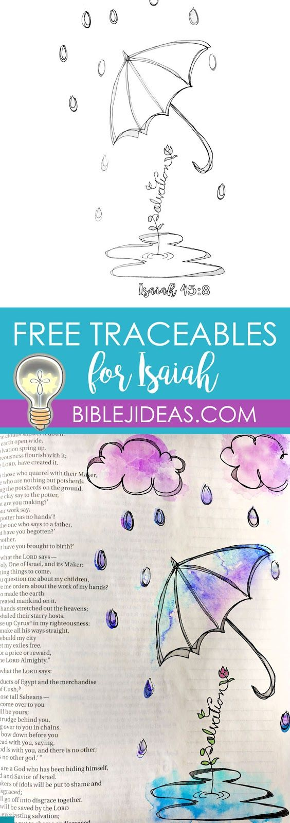 Bible Journaling Ideas: Two Printables for Isaiah