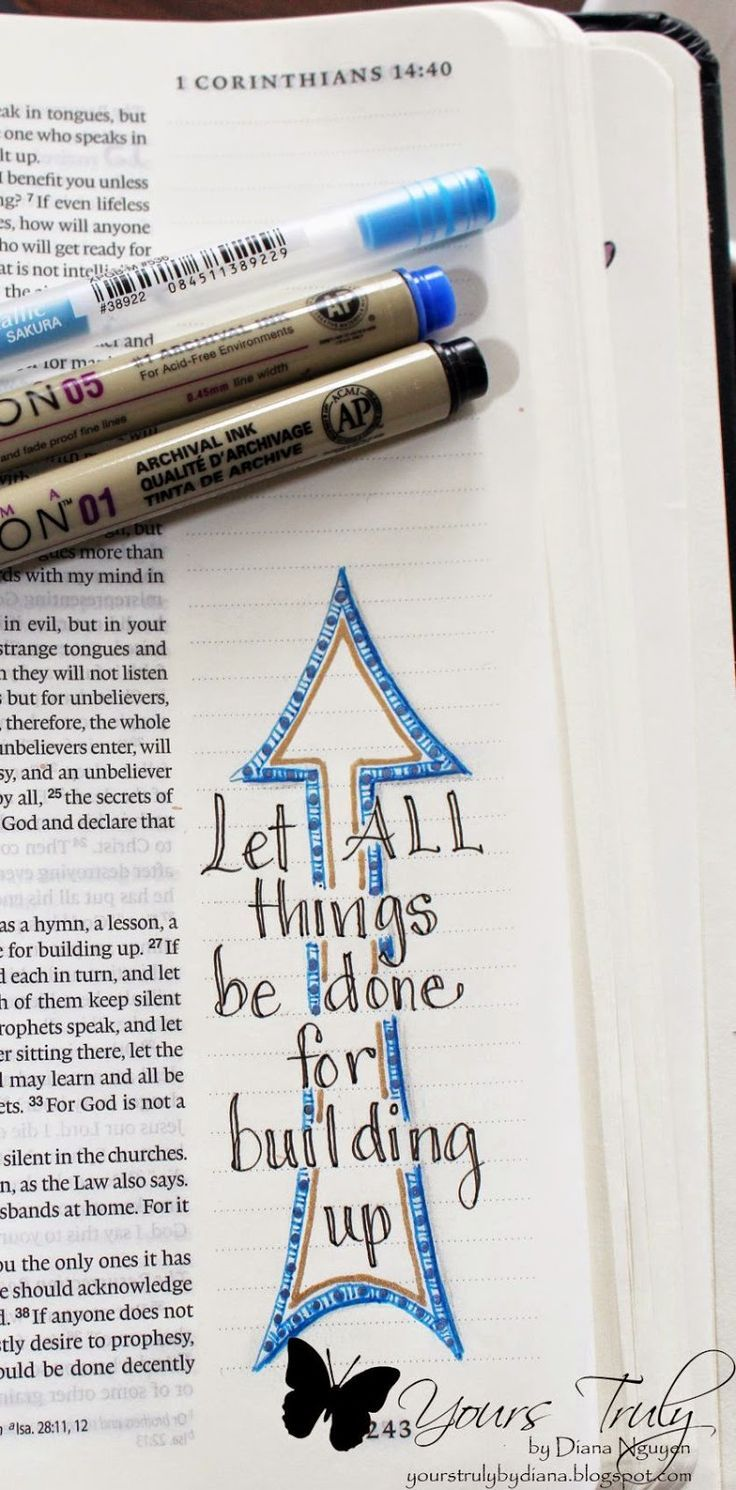 Bible journaling can highlight the verse that jumps out to you, it can be simple...