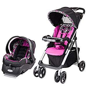 Disney Baby Minnie Mouse Amble Quad Travel System Stroller with OnBoard 22 LT Infant Car Seat - Compare and Shop The Best Stuff