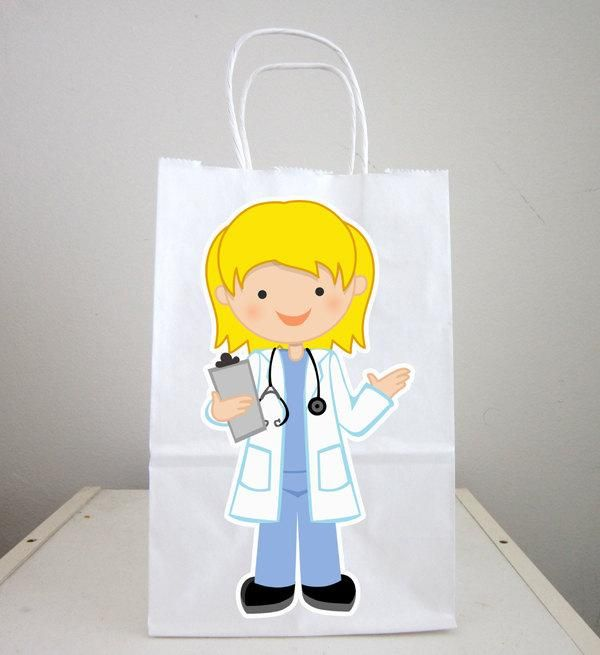 Doctor Goody Bags, Doctor Favor Bags, Doctor Goodie Bags, Doctor Birthday Party, Doctor Favors