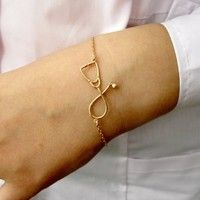 Fashion Stethoscope Bracelet for Nurse Doctor Medical Student Silver Plated Stethoscope Jewelry | Wish