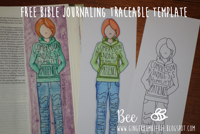 Free Bible Journaling Traceable Template Colossians 3