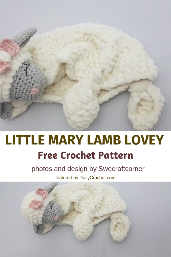 Free Little Mary Crochet Lamb Lovey Pattern To Help Your Babies Sleep Better And Longer - Knit And Crochet Daily
