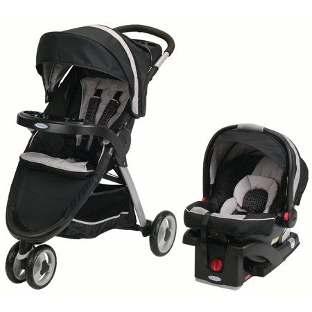 Graco FastAction Fold Sport Click Connect Travel System, Pierce - Walmart.com