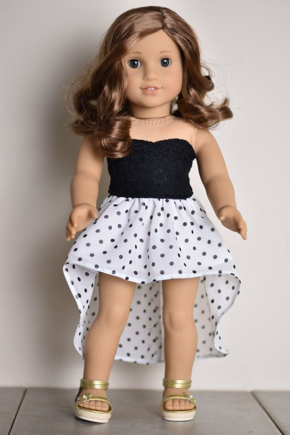 High Low Skirt American girl doll by EliteDollWorld on Etsy #dollclothes High Lo...