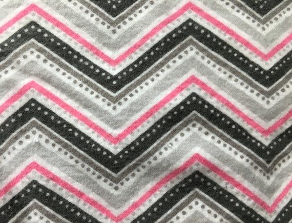 Hooded Baby Bath Towel Set with Pink and Gray Chevron Print, Baby Towel, Best Se...
