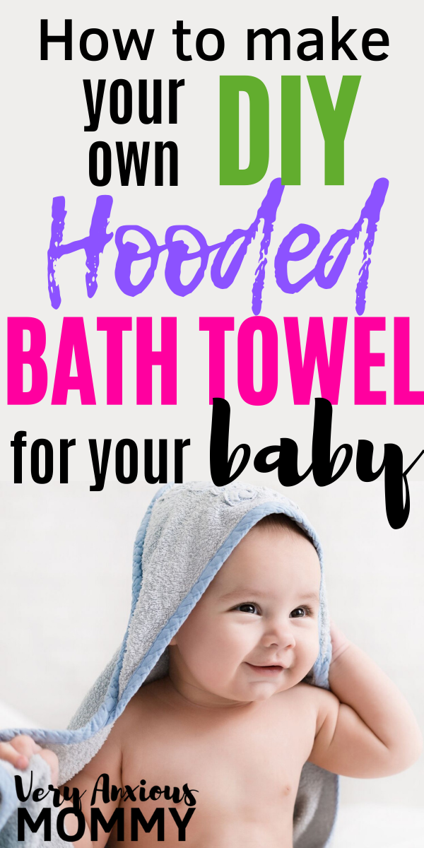 How to Make Your Own DIY Hooded Bath Towel for Your Baby#baby #bath #diy #hooded...