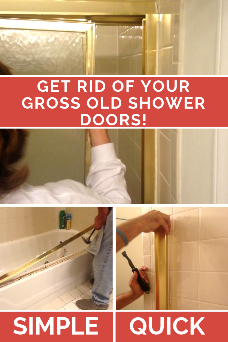 How to remove sliding shower doors - the quick and easy way