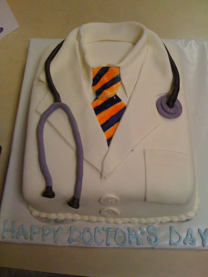 I did this cake for my boss on doctor's day. Thanks for all the wonderful ideas!...