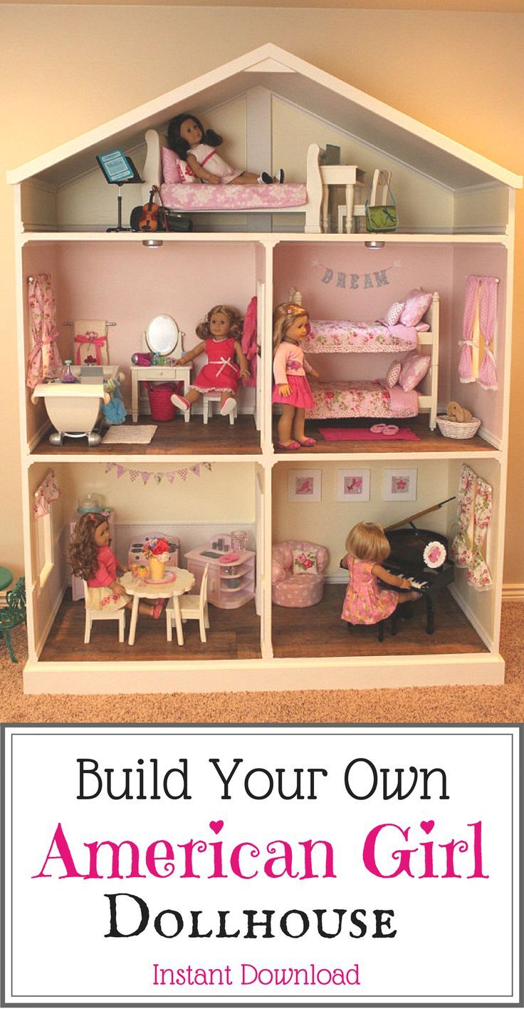 I love these plans for building your own doll house!! My daughter would love thi...