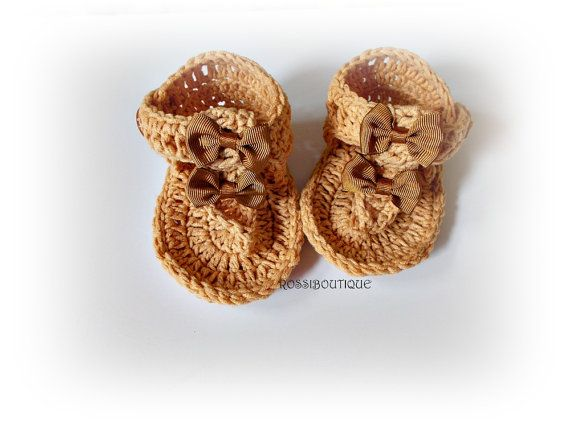 Items similar to Brown Baby Flip Flops, Baby Sandals, Brown sandals, Crochet Baby Flip Flops, Summer Baby Shoes, Crochet Baby Sandles, Girl Sandles on Etsy