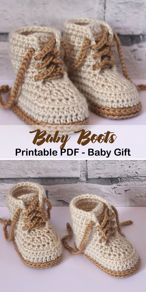 Make a cute pair of baby boots. baby boots crochet patterns - baby shoes crochet...